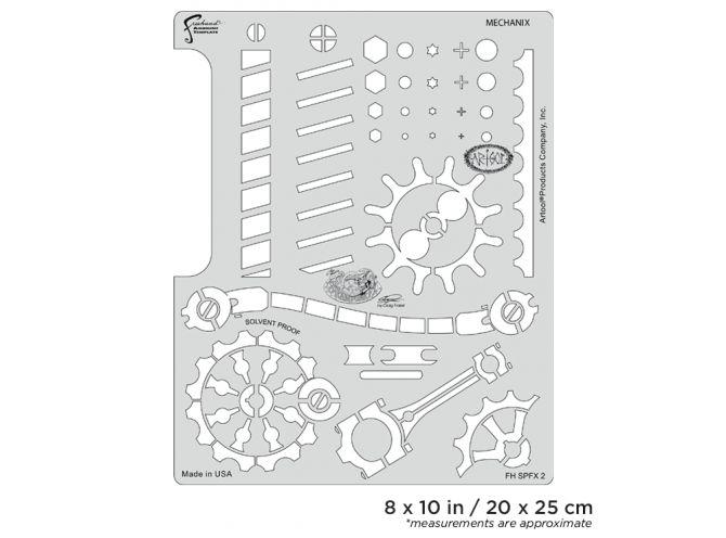 artool steampunk fx mechanix freehand airbrush template by craig